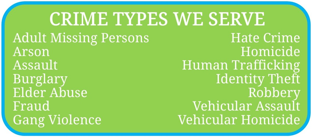Crime Types We Serve